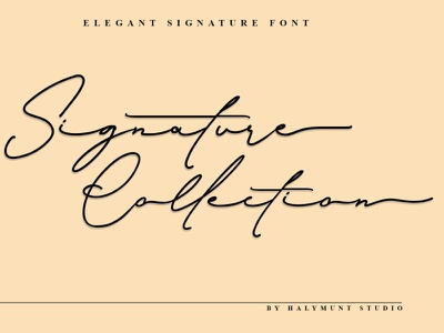 Signature Collection typography