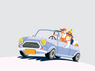 Pick Up Delivery Illustration Flat for Laundry bussines