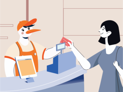 Flat Illustration for Laundry business