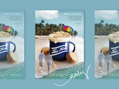 Rootbeer Float Macarons Ads