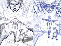 Comic page - sketch