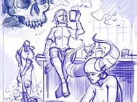 sketch - comic page