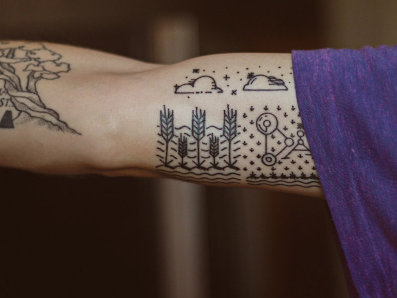 Simple tattoo by Kirk! Wallace | Dribbble | Dribbble