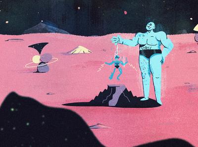 Dr Manhattan clouds drawing character design character uropa mars blue planet space puppet fan art comic watchmen doctor dr manhattan manhattan