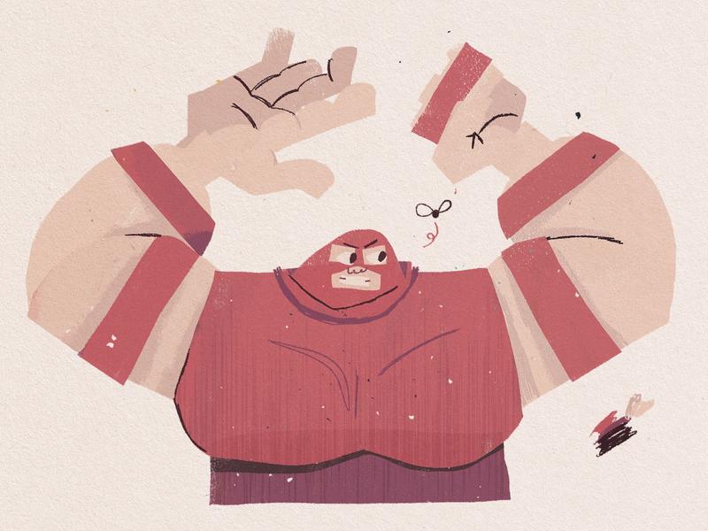 Juggernaut smash kidlit flat comics marvel character design illustration character characterdesign juggernaut xmen