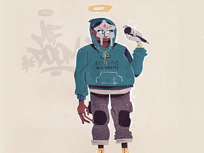 MF DOOM hiphop character illustration illustrator mf doom mfdoom metal face doomsday doom