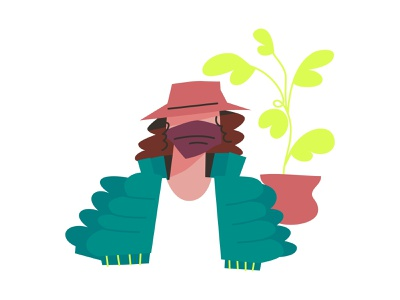 bucket hat lifestyle mask character design simple illustration illustrator character hat bucket hat