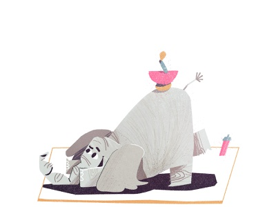 Elephant character stretch yoga friendly cute illustrator boston kidlit kid illustration 🐘 animal elephant