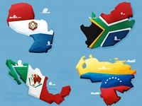 24ish Countries Illustrated