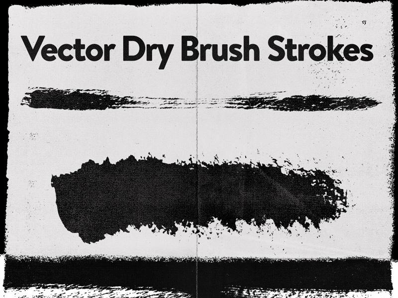 Dry Brushes Vector [Freebie] download freebie free brushes vector ai dry brush brush strokes