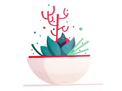 Terrarium Planter icon illustration pot flowers leaves leaf plant terrarium