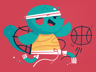 Pokemon dunk illustration dribble shorts headband run bounce basketball squirtle pokemon