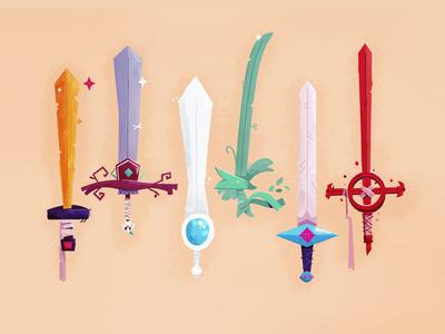 Fin Swords illustration demon blood sword weapons weapon fan art finn finn the human swords adventure time
