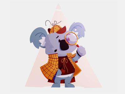 500 Internal Server Error, Sherlock illustration error 404 bug bear koala inspector magnifying glass private sherlock