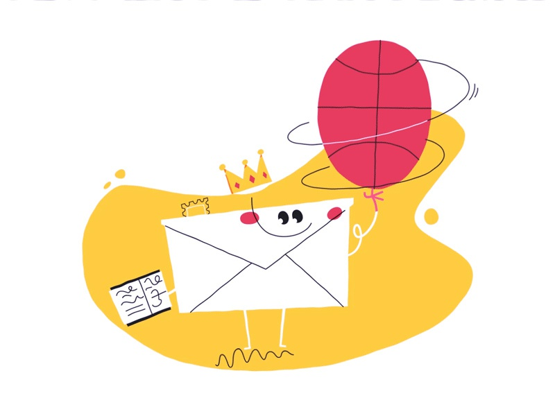 email Baller blob illustrator illustration stamp email. tricks crown king dribble dunk basketball
