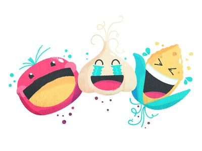 Food Emojis Laughing illustration onion tomato corn food farm veggies vegetables :d lol crying laughing