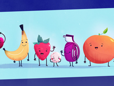 Fruit crew food snacks buddy buddies pals friends fruit