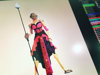 Okoye quick comic spear warrior woman women movie fan art marvel okoye black panther