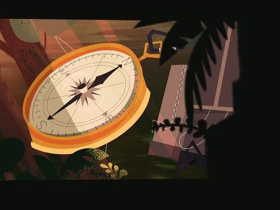 Compass run adventure time running jungle bush fast compass run