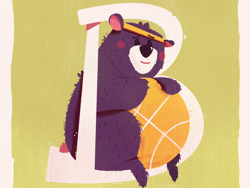 Black berry Bear w ball balancing black bear balance bear ball