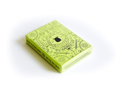 Koala Cards   Box Cover koala bicycle cards spot uv spot dieline package packaging box cards