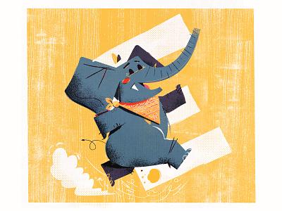 Elated elephant anthropomorphic anthropomorphism kidlit crocodile alligator lettering type 36daysoftype alphabet abcs abc
