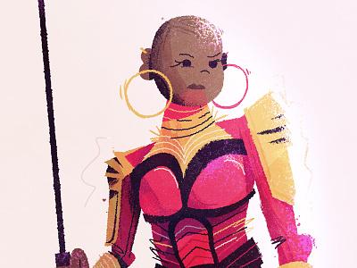 Okoye finished mascot visual development character mcu marvel wakanda okoye bp black panther