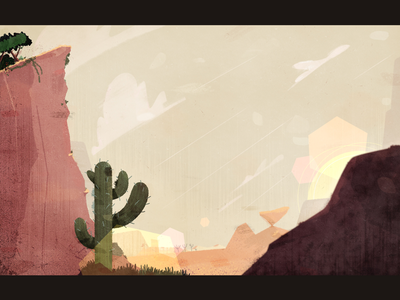 Background art hot sunny cactus desert clouds cliff animation background animation background art bg background