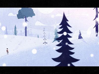 Snowy Extra Scene still animation background atmosphere snowflake short film adventure scale storm blizzard snow winter trees