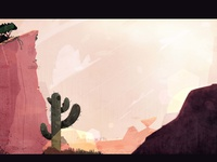 Cactus background painting