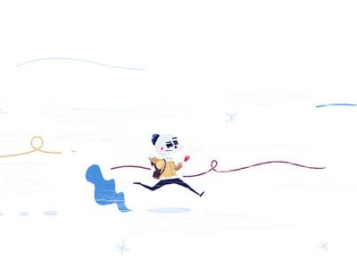 Minimal snowy run
