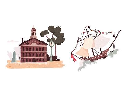 Old Ironsides landmark landmarks spot market quincy massachusetts mass boston ship ironsides