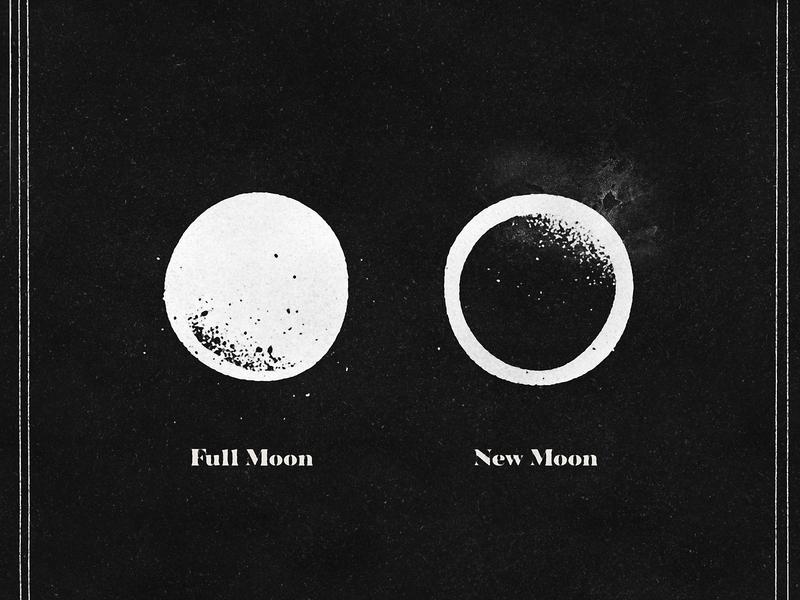 Moonsfun grain texture simple iconography gothic icon new moon full moon moons moon