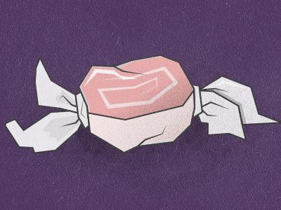 Taffy taffy candy wrapper food illustration