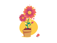Flower growth icons