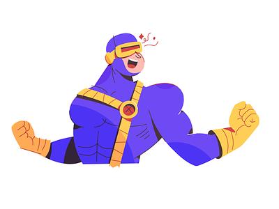 Cyclops marvel super hero vector comic book comic x men cyclops