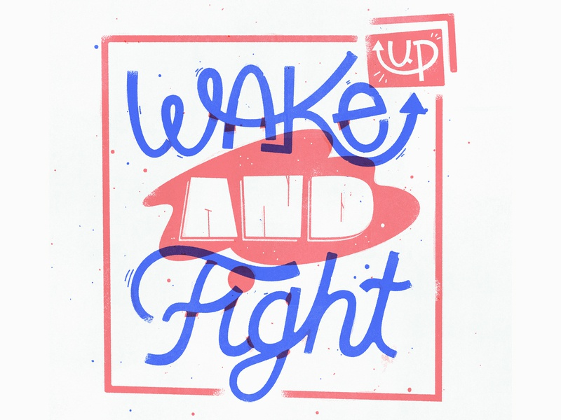 Wake up lettering artist illustrated type quote wonky script hand lettering lettering art lettering