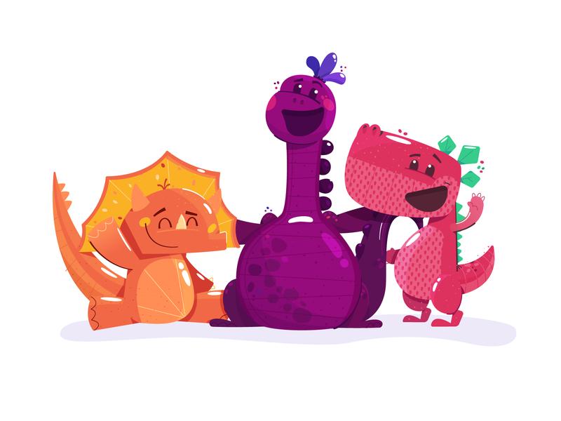 Publix Vitamin Dinos character illustration packaging dieline gummies gummy mascot dinosaurs vitamins food market grocery publix