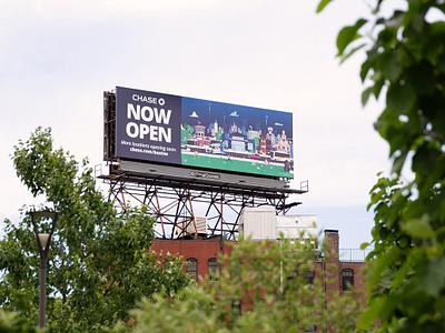 Chase Mural Billboard ma massachusetts boston illustration advertising campaign billboard mockup advertisement ad advertising billboard