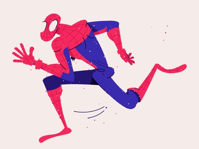 Spidey number two! daily drawing daily character design run running hero comic marvel spiderverse spiderman spider