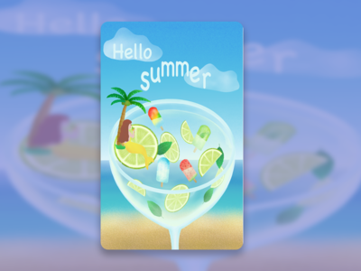 Hello summer,have a drink.