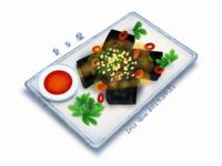Chinese food-Stinky tofu