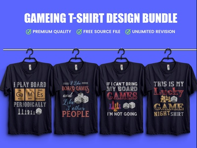 New Gameing T-Shirt Design Bundle .