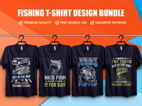 New Fishing T Shirt Design Bundle - Hello Dribble