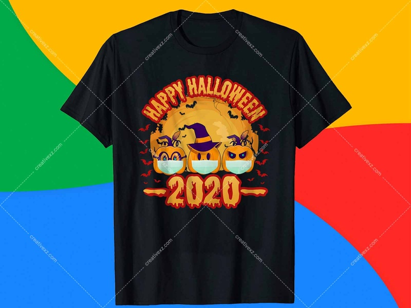 Happy Halloween 2020  T Shirt Design. t shirt design logodesign amazon t shirts design typography t shirt halloween tops amazon halloween shirt amazon halloween t shirt halloween michael myers cool halloween halloween t-shirt halloween t-shirts amazon app ux icon typography logo ui branding design illustration