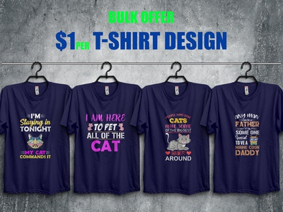 Funny Cat T-Shirt Bundle
