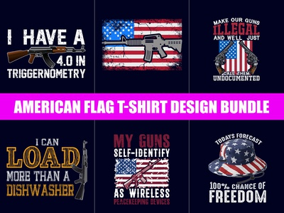American Army T shirts design bundle