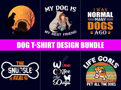 Dog T-Shirts Design Bundle