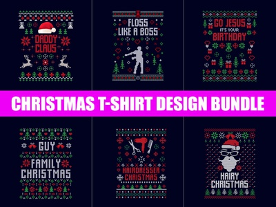 Christmas T-Shirt Design Bundle