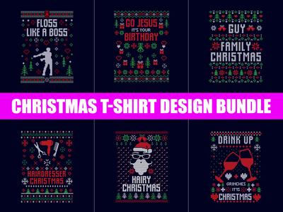 Christmas T-Shirt Design Bundle .